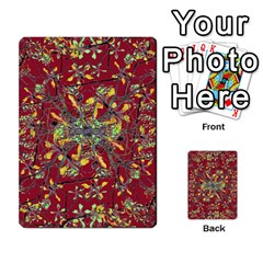 Oriental Floral Print Multi Purpose Cards (rectangle)  by dflcprints