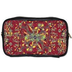 Oriental Floral Print Toiletries Bags by dflcprints