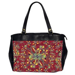 Oriental Floral Print Office Handbags (2 Sides)  by dflcprints