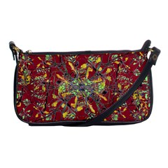Oriental Floral Print Shoulder Clutch Bags by dflcprints