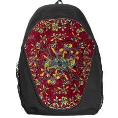 Oriental Floral Print Backpack Bag by dflcprints