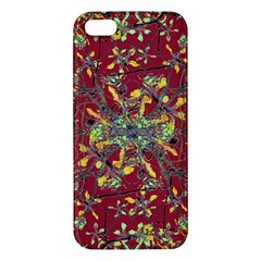 Oriental Floral Print Apple Iphone 5 Premium Hardshell Case by dflcprints
