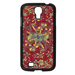 Oriental Floral Print Samsung Galaxy S4 I9500/ I9505 Case (black) by dflcprints