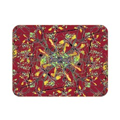Oriental Floral Print Double Sided Flano Blanket (mini)  by dflcprints