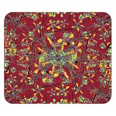 Oriental Floral Print Double Sided Flano Blanket (small)