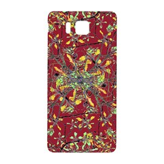 Oriental Floral Print Samsung Galaxy Alpha Hardshell Back Case by dflcprints