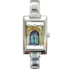 Luebeck Germany Arched Church Doorway Rectangle Italian Charm Watches by karynpetersart