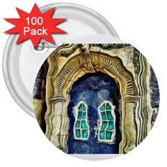 Luebeck Germany Arched Church Doorway 3  Buttons (100 Pack)  by karynpetersart