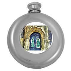 Luebeck Germany Arched Church Doorway Round Hip Flask (5 Oz) by karynpetersart