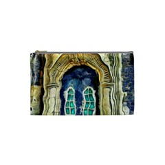 Luebeck Germany Arched Church Doorway Cosmetic Bag (Small)  by karynpetersart