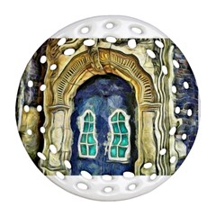Luebeck Germany Arched Church Doorway Round Filigree Ornament (2side) by karynpetersart
