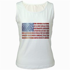 Usa States Flag Women s Tank Tops by theimagezone