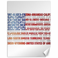 Usa States Flag Canvas 12  X 16   by theimagezone