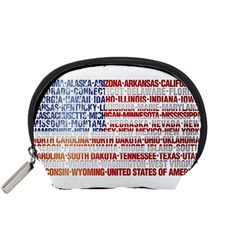 Usa States Flag Accessory Pouches (small)  by theimagezone