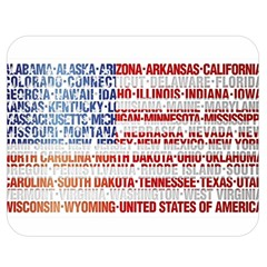 Usa States Flag Double Sided Flano Blanket (medium)  by theimagezone