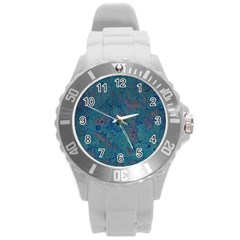 Urban Background Round Plastic Sport Watch (l) by LokisStuffnMore