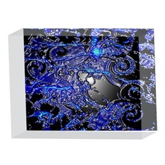 Blue Silver Swirls 5 x 7  Acrylic Photo Blocks