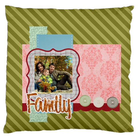 Family By Family   Standard Flano Cushion Case (one Side)   C6sv7bassn39   Www Artscow Com Front