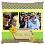 family - Standard Flano Cushion Case (One Side)