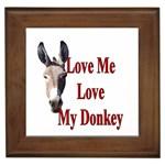 Love my donkey 2 Framed Tile