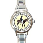 Mammoth Round Italian Charm Watch