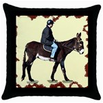 Mammoth Throw Pillow Case (Black)