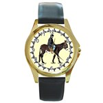 Mammoth Round Gold Metal Watch