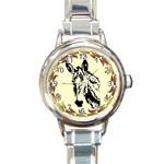 Donkey head Round Italian Charm Watch
