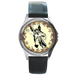 Donkey head Round Metal Watch