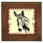 Donkey head Framed Tile