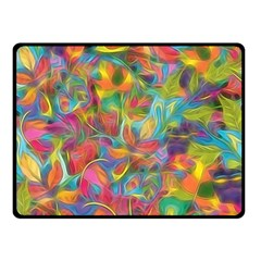 Colorful Autumn Double Sided Fleece Blanket (small)  by KirstenStar
