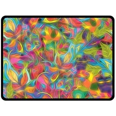 Colorful Autumn Double Sided Fleece Blanket (large)  by KirstenStar