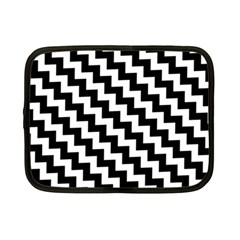 Black And White Zigzag Netbook Case (small)