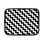 Black And White Zigzag Netbook Case (Small)  Front