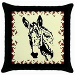 Donkey head Throw Pillow Case (Black)