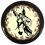 Donkey head Wall Clock (Black)