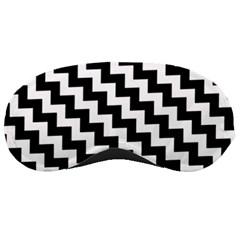 Black And White Zigzag Sleeping Masks by ElenaIndolfiStyle
