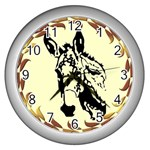 Donkey head Wall Clock (Silver)