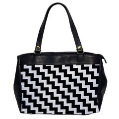 Black And White Zigzag Office Handbags by ElenaIndolfiStyle