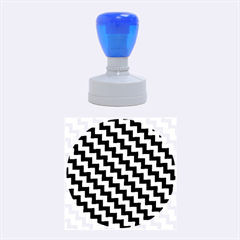 Black And White Zigzag Rubber Round Stamps (Medium)