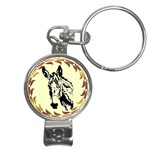 Donkey head Nail Clippers Key Chain