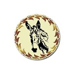 Donkey head Rubber Round Coaster (4 pack)