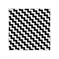 Black And White Zigzag Acrylic Tangram Puzzle (4  X 4 ) by ElenaIndolfiStyle