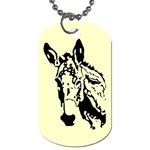 Donkey head Dog Tag (One Side)
