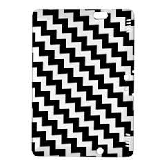 Black And White Zigzag Kindle Fire HDX 8.9  Hardshell Case by ElenaIndolfiStyle