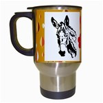 Donkey head Travel Mug (White)