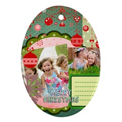Xmas By Xmas   Oval Ornament (two Sides)   Dnouavlcmu4a   Www Artscow Com Back