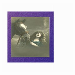 Vintage Woman With Horse Large Garden Flag (Two Sides)