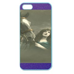 Vintage Woman With Horse Apple Seamless Iphone 5 Case (color) by LokisStuffnMore