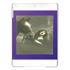 Vintage Woman With Horse Ipad Air Hardshell Cases by LokisStuffnMore